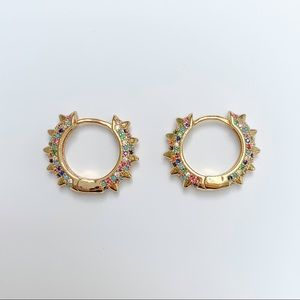 Jewelry - GOLD THICK TUBE HOOP EARRINGS, MINI CHUNKY HOOPS